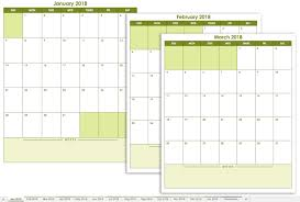 Excel Monthly Calendar Template Free Excel Calendar Templates
