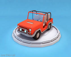 jeep family 2017 low poly family car and jeep download 3d model low poly lab