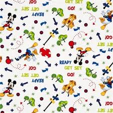 cotton fabric character fabric disney mickey and pluto tree