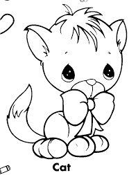 precious moments coloring pages cat coloringstar