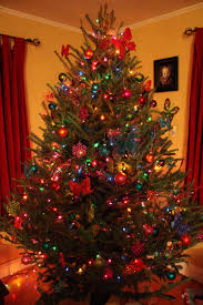 festive decorated christmas tree pines and needles 6ft decoration