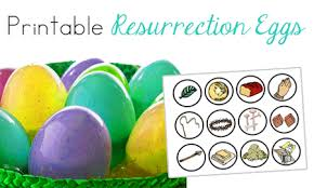 easter resurrection eggs easter bible printables
