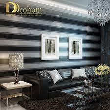 aliexpress com buy fashion luxury striped wallpaper living room