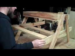 Plans For Picnic Table Bench Combo by Kids Picnic Table With Bonus Sand Box Youtube