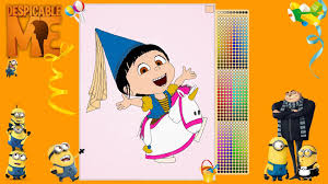 despicable me agnes unicorn coloring pages youtube