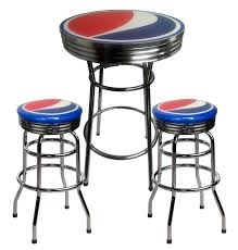 table with 2 stools pepsi bar table and 2 stools
