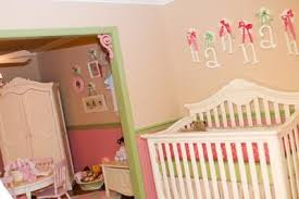 Pink And Green Nursery Decor Pink And Green Nursery Decor Nursery Decorating Ideas