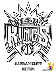 sacramento kings logo coloring page coloring home