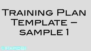 training plan learning plan template sample 1