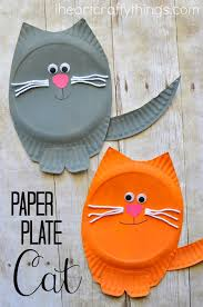 Paper Plate Monkey Craft - paper plate cat craft i crafty things