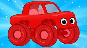 monster truck videos free my red monster truck and the big chase 1 hour my magic pet