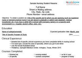 nursing student resume template exle of resume nursing student krida info