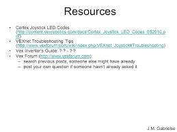 vex robotics led lights vex troubleshooting ppt download