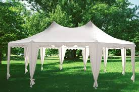 white gazebo 29 x21 decagonal wedding gazebo tent canopy white