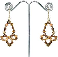 around the beading table chandelier earrings