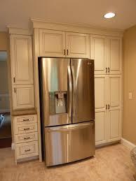 Built In Refrigerator Cabinets Above Fridge Cabinet Depth Best Home Furniture Decoration