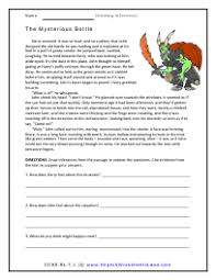 drawing inferences worksheets