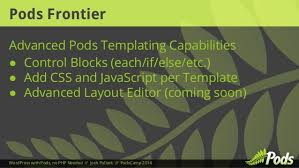 wordpress with pods no php needed