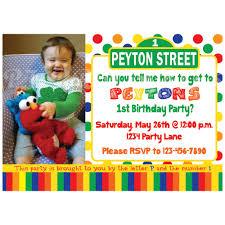 sesame street birthday invitations plumegiant com
