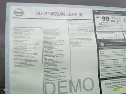 nissan leaf vin decoder 2012 nissan leaf sl window sticker photo 56838497 gtcarlot com