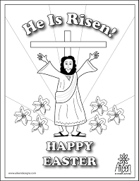 25 religious easter coloring pages with he is risen page theotix me