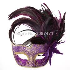 feather masks 2018 new party masks masquerade masks color feather