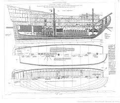 collection de plans ou dessins de navires et de bateaux anciens et