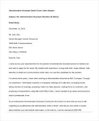 amazing email cover letter for administrative assistant 23 about