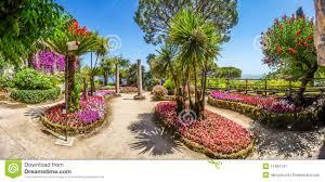 famous villa rufolo gardens in ravello at amalfi coast italy