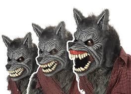 amazon com california costumes werewolf mask assorted one size