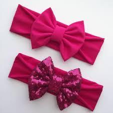 pink headbands solid headbands sassy bow co