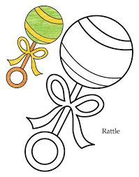 0 level rattle coloring page download free 0 level rattle