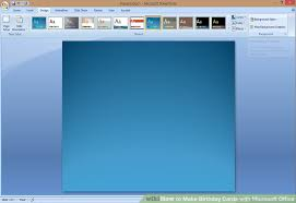 how to make birthday cards with microsoft office with pictures