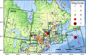 map of southeast canada earthquake zones in eastern canada