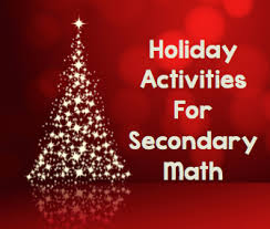 teaching high math fun christmas activities for secondary