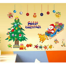 christmas wall stickers home decor new year present merry
