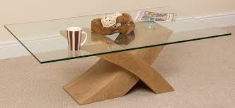 glass coffee table wooden legs milano x glass wood coffee table oak 135 w x 80 d x 45 h cm