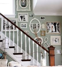 Staircase Wall Ideas Wall Decor For Stairway Black White Photo With Unique Oval
