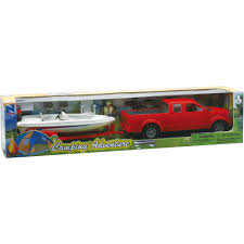 1 20 up truck with trailer and fishing boat set walmart com
