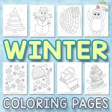 winter coloring pages kids itsy bitsy fun