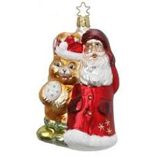 dressed to the nuts snowman christmas ornament inge glas of