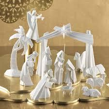 porcelain origami nativity set gump s