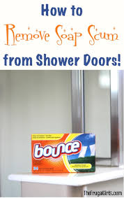 Remove Soap Scum From Glass Shower Doors How To Remove Soap Scum From Shower Doors Clever Tips The