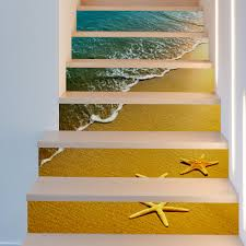 online get cheap 3d stairs wall stickers aliexpress com alibaba funlife starfish stairs stickers imitation 3d self adhesive wall stickers pvc wall poster for kids