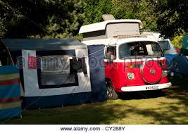 Vw Awning Volkswagen Camper Van And Awning Tent At A Vw Show England