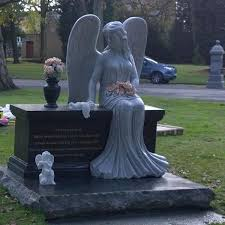 tombstone for sale large granite angel tombstone for sale you sculpture
