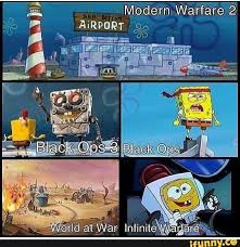 Funny Call Of Duty Memes - call of duty games portrayed by spongebob meme by josael281999 on