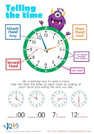 learn to tell time printable worksheets for kids