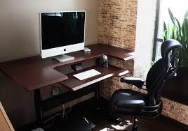 Sit Stand Adjustable Desk Sit Stand Height Adjustable Desk Modern Home Office Seattle