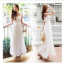 discount casual white dresses for beach wedding 2017 casual